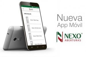 App móvil de Nexo Aberturas S.A.